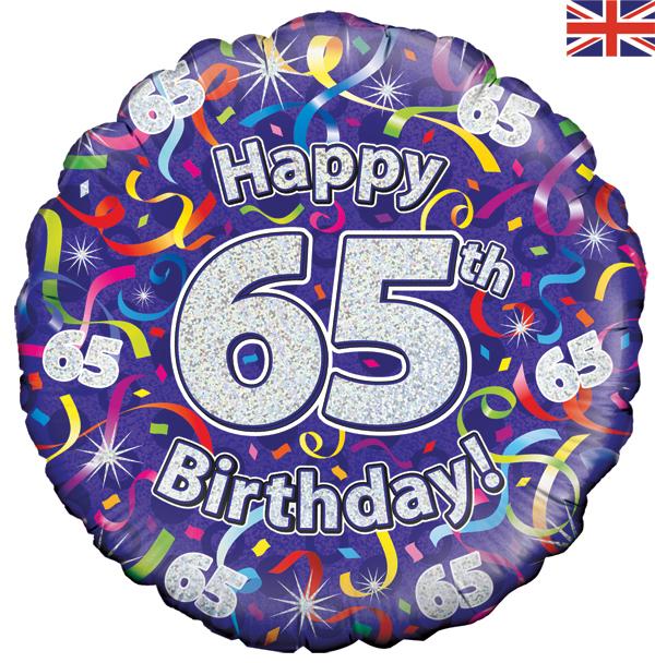 65th Birthday Balloons