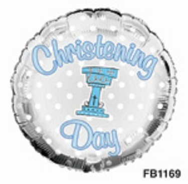 Christening balloons (boy)