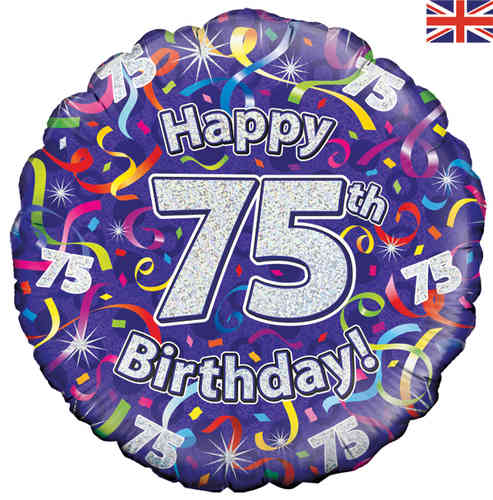 75th Birthday balloons