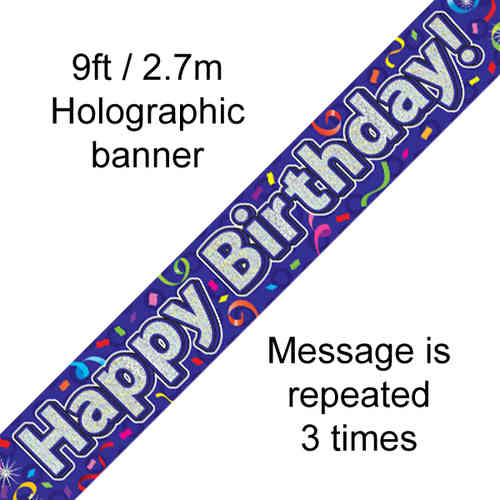 Open Birthday Banners & Bunting