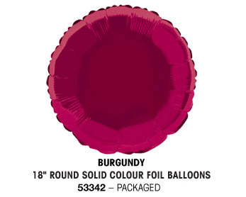 Plain foil balloons 18in Round