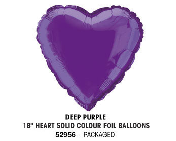 Plain foil balloons 18in Hearts