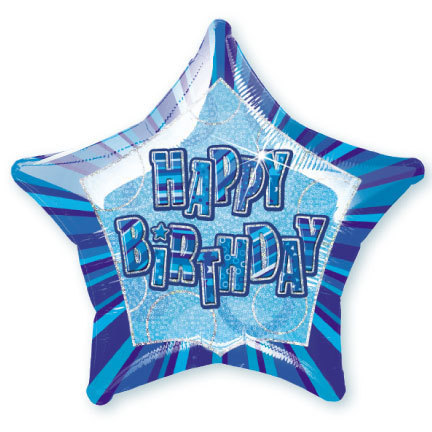 Blue Glitz party pack Foil Balloon
