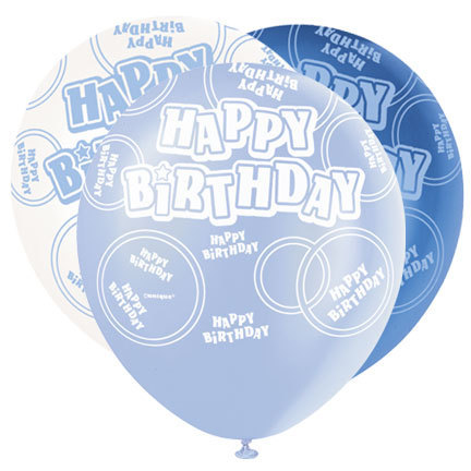 Blue Glitz party pack Latex Balloon