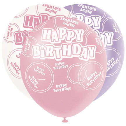 Pink Glitz Party Pack Latex Balloon