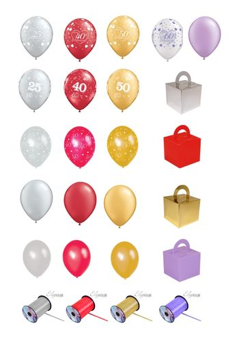Milestone Anniversary balloon package