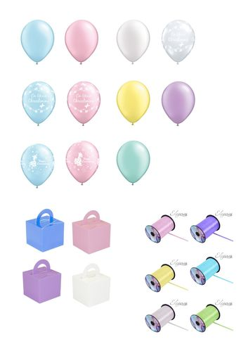 Christening balloon package (latex)